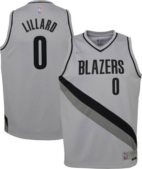 Nike Youth Portland Trail Blazers 2021 Earned Edition Damian Lillard Dri-FIT Swingman Jersey product image