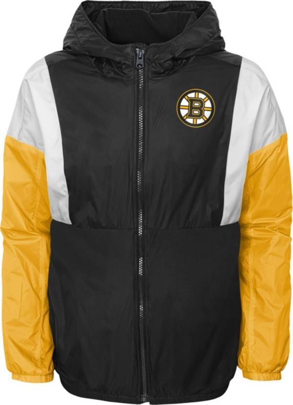NHL Youth Boston Bruins Stadium Black Windbreaker Jacket product image