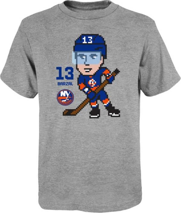 NHL Youth New York Islanders Matthew Barazal #13 Pixel Grey T-Shirt product image