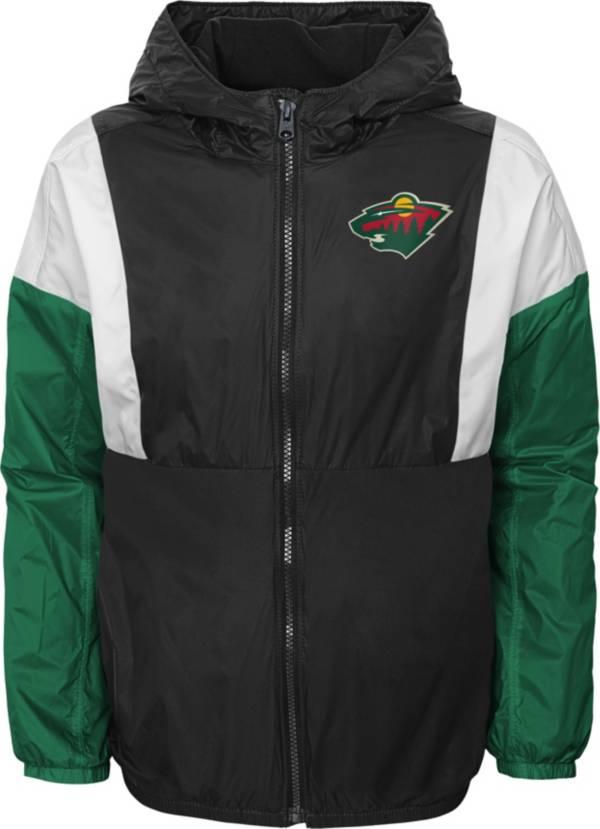 NHL Youth Minnesota Wild Stadium Green Windbreaker Jacket product image