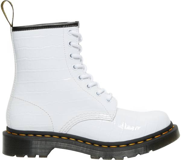 Dr. Martens Women's 1469 Patent Croc Emboss Leather Boots product image