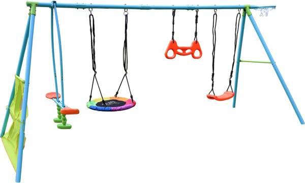 Pure Fun 6-Station Metal Swing Set product image