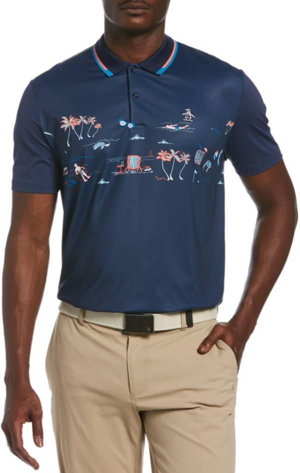 Original Penguin Men's Resort Chest Print Short Sleeve Golf Polo product image