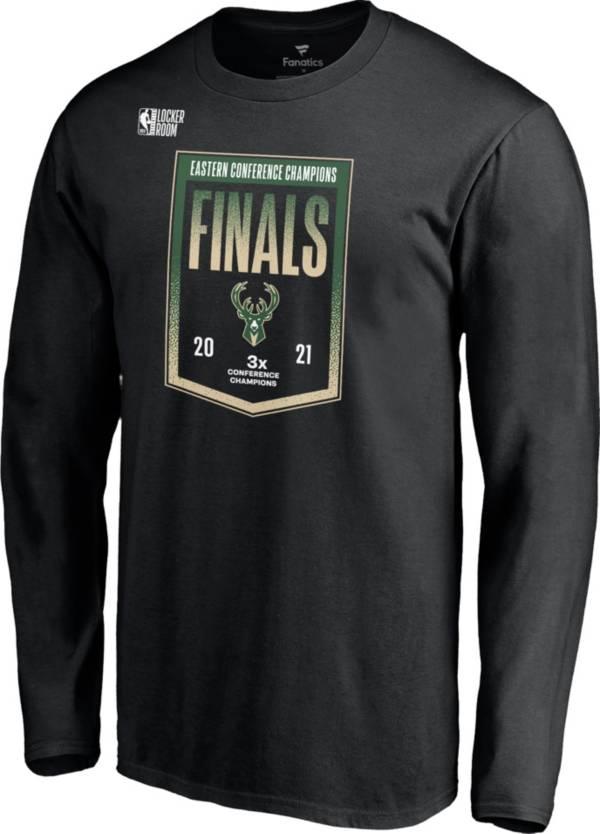 NBA Men's 2021 Eastern Conference Champions Milwaukee Bucks Locker Room Long Sleeve T-Shirt product image