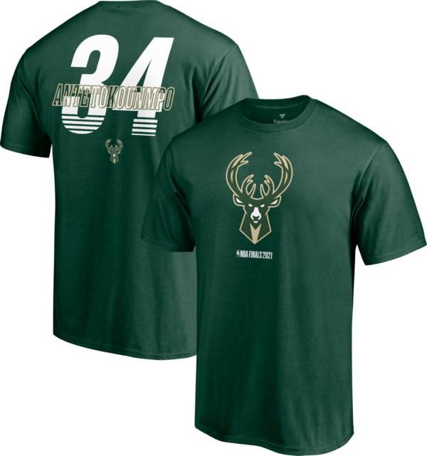NBA Men's 2021 Eastern Conference Champions Milwaukee Bucks Giannis Antetokounmpo #34 T-Shirt product image