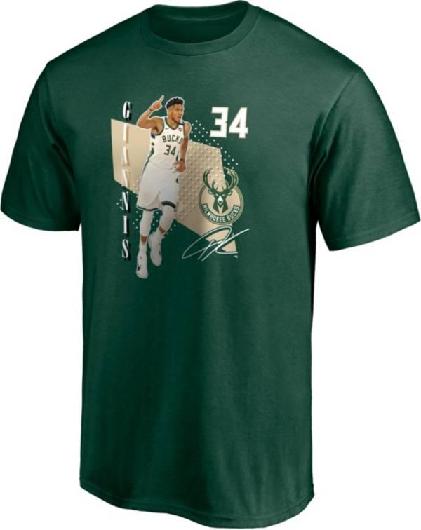 NBA Men's Milwaukee Bucks Giannis Antetokounmpo #34 Green T-Shirt product image