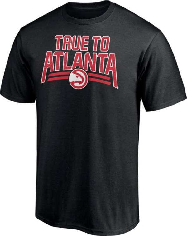 NBA Men's Atlanta Hawks  Black  Cotton T-Shirt product image