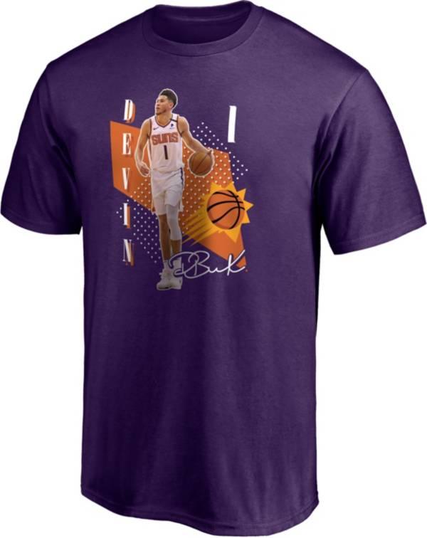 NBA Men's Phoenix Suns Devin Booker #1 Purple T-Shirt product image