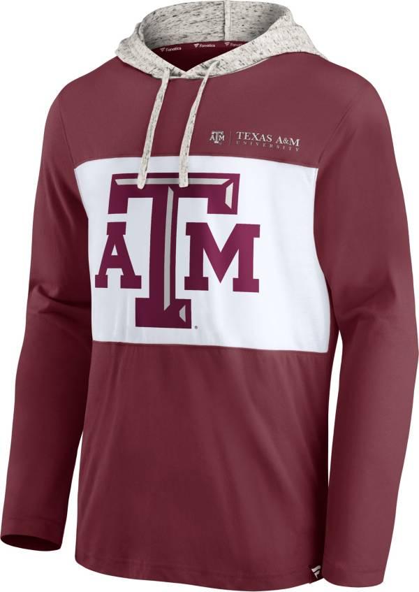 NCAA Men's Texas A&M Aggies Maroon Long Sleeve Hooded T-Shirt product image