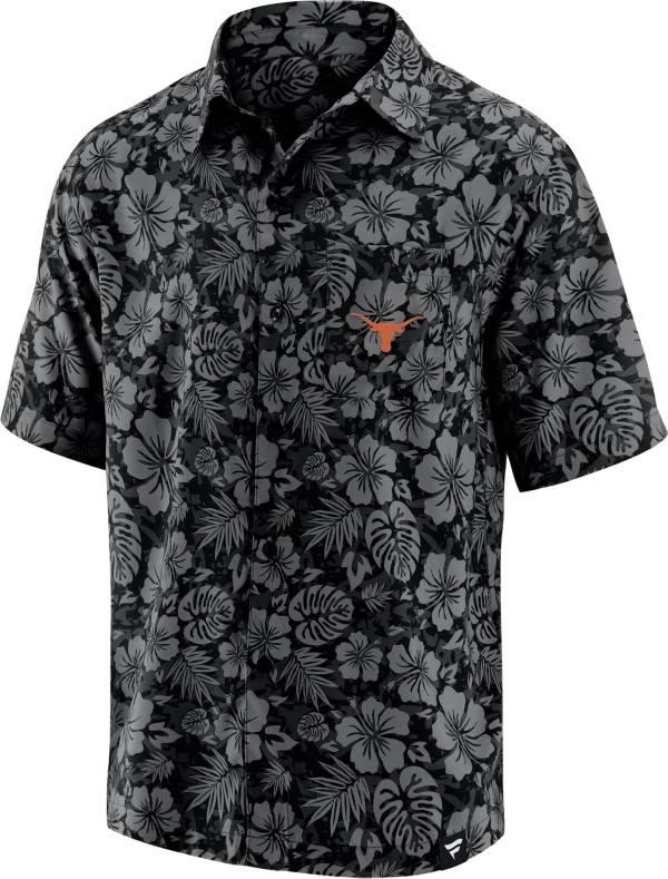 NCAA Men's Texas Longhorns Floral Camp Short Sleeve Button-Down Shirt product image