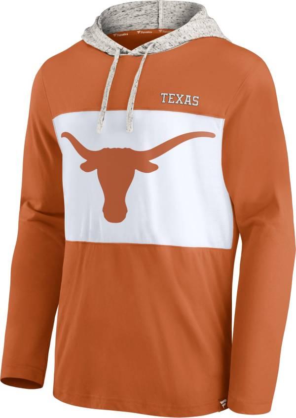 NCAA Men's Texas Longhorns Burnt Orange Long Sleeve Hooded T-Shirt product image