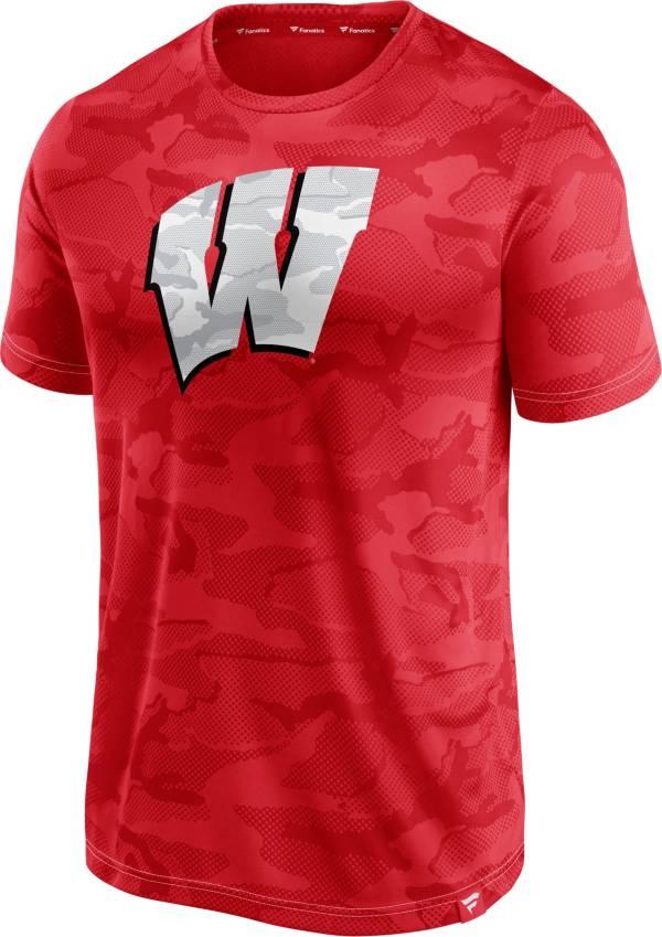 NCAA Men's Wisconsin Badgers Red Camo T-Shirt product image