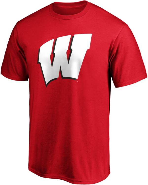 NCAA Men's Wisconsin Badgers Red Cotton T-Shirt product image