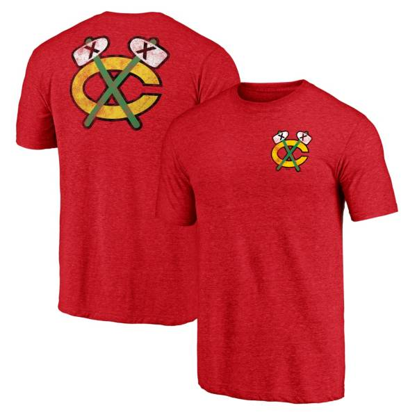 NHL Men's Chicago Blackhawks Shoulder Patch Red T-Shirt product image