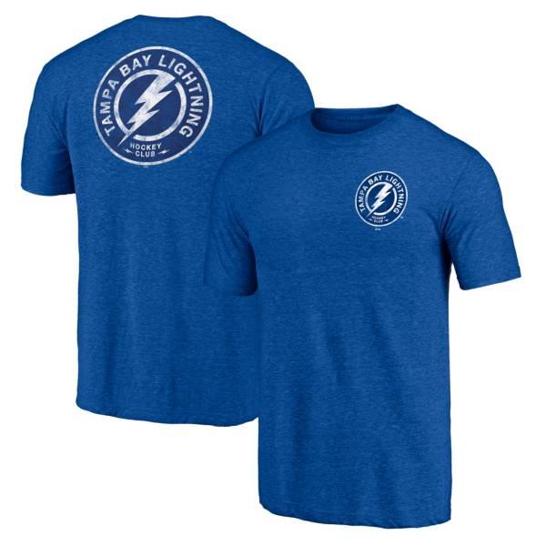 NHL Men's Tampa Bay Lightning Shoulder Patch Royal T-Shirt product image