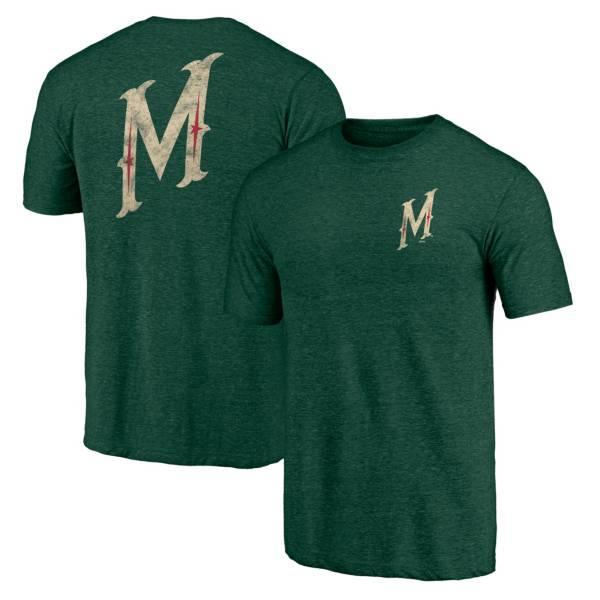 NHL Men's Minnesota Wild Shoulder Patch Green T-Shirt product image