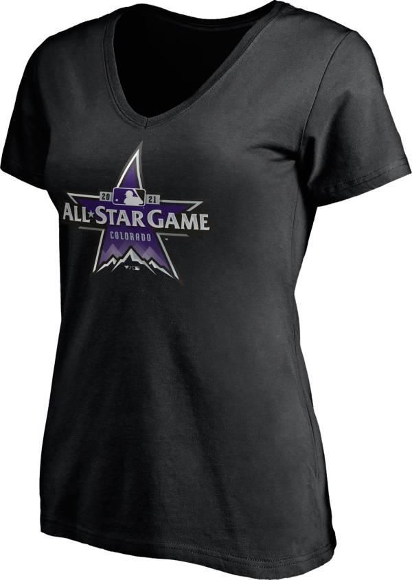 Nike Women's Colorado Rockies Black 2021 All-Star Game V-Neck T-Shirt product image