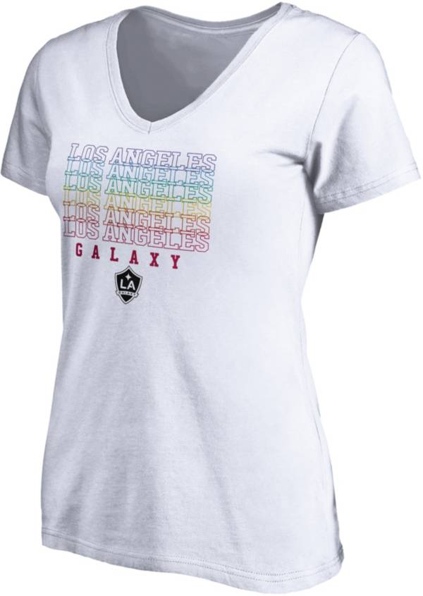 MLS Women's Los Angeles Galaxy Pride White V-Neck T-Shirt product image