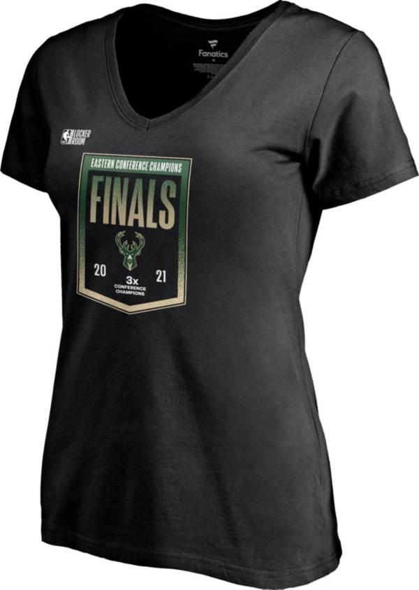 NBA Women's 2021 Eastern Conference Champions Milwaukee Bucks Locker Room T-Shirt product image