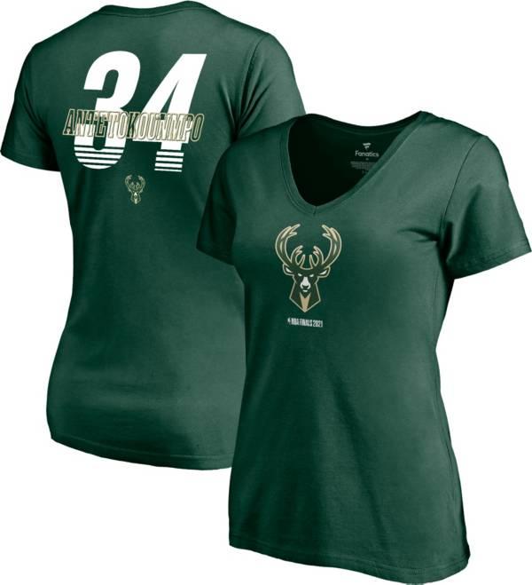 NBA Women's 2021 Eastern Conference Champions Milwaukee Bucks Giannis Antetokounmpo #34 T-Shirt product image