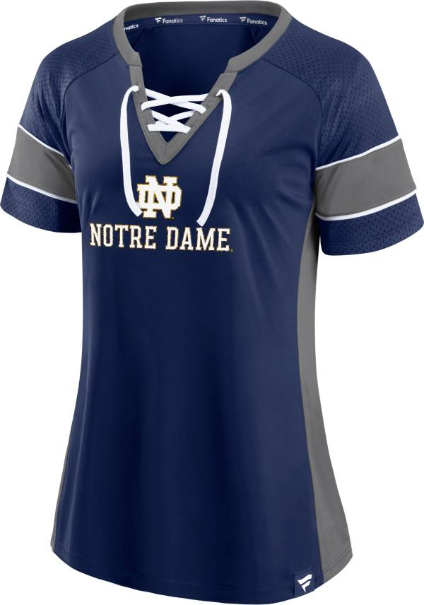 NCAA Women's Notre Dame Fighting Irish Navy Lace-Up T-Shirt product image