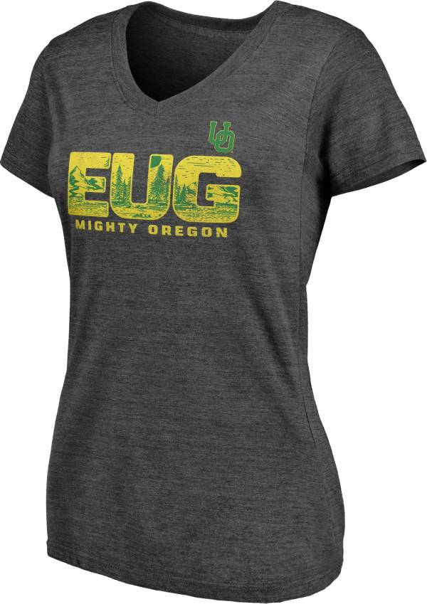 NCAA Women's Oregon Ducks Grey V-Neck T-Shirt product image