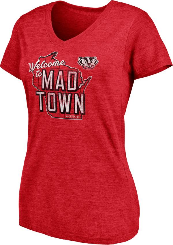 NCAA Women's Wisconsin Badgers Red V-Neck T-Shirt product image