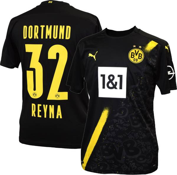 PUMA Men's Borussia Dortmund '20-'21 Giovanni Reyna #32 Secondary Replica Jersey product image