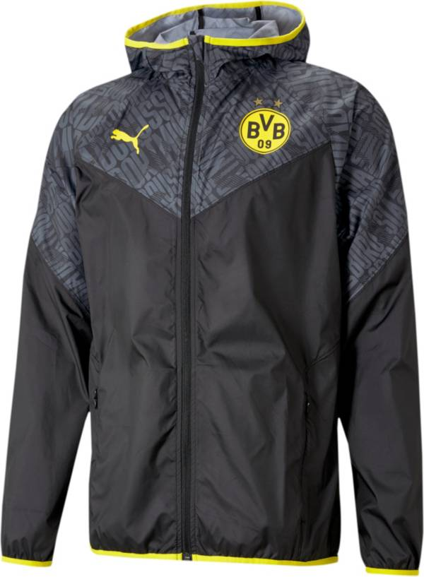 PUMA Men's Borussia Dortmund Warm Up Black Jacket product image