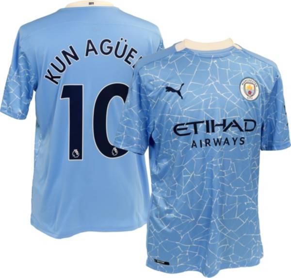 PUMA Men's Manchester City '20 Sergio Aguero #10 Home Replica Jersey product image