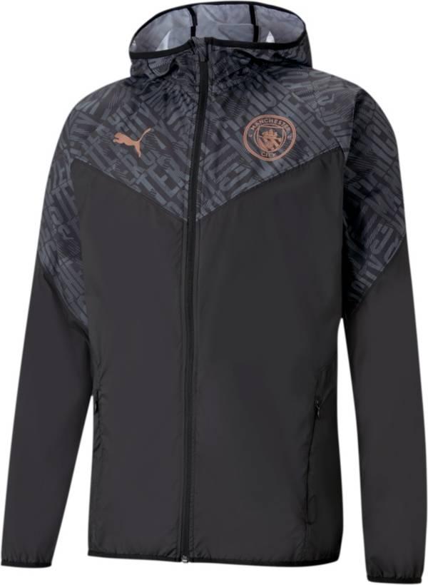 PUMA Men's Manchester City F.C. Warm Up Black Jacket product image