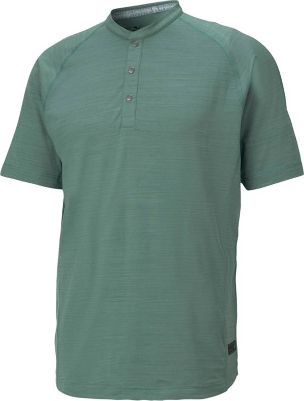 PUMA Men's Excellent Golf Wear Short Sleeve Henley Golf Shirt product image