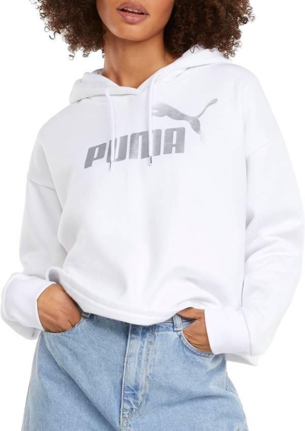 Puma Women's Cropped Metallic Logo Hoodie product image