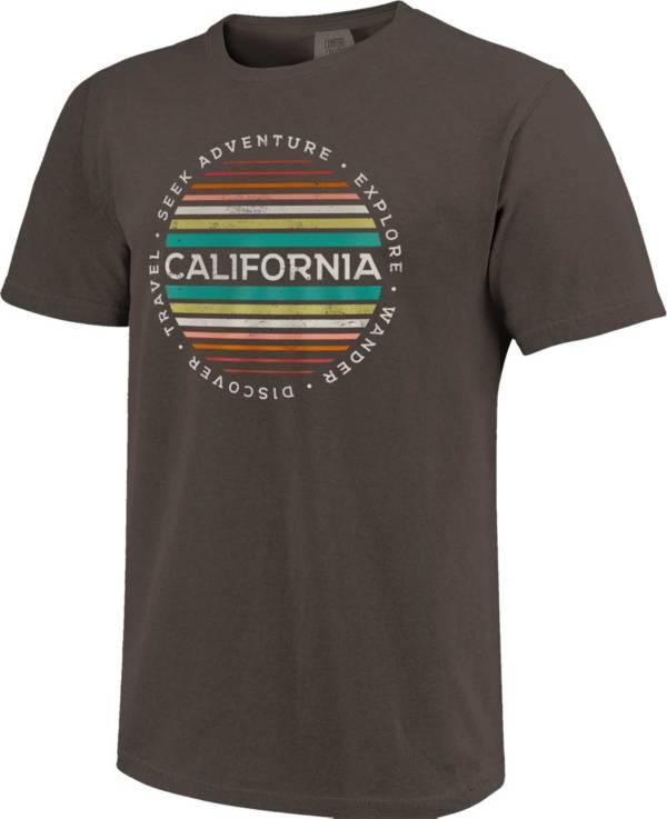 Image One Men's California Stripes Short Sleeve T-Shirt product image