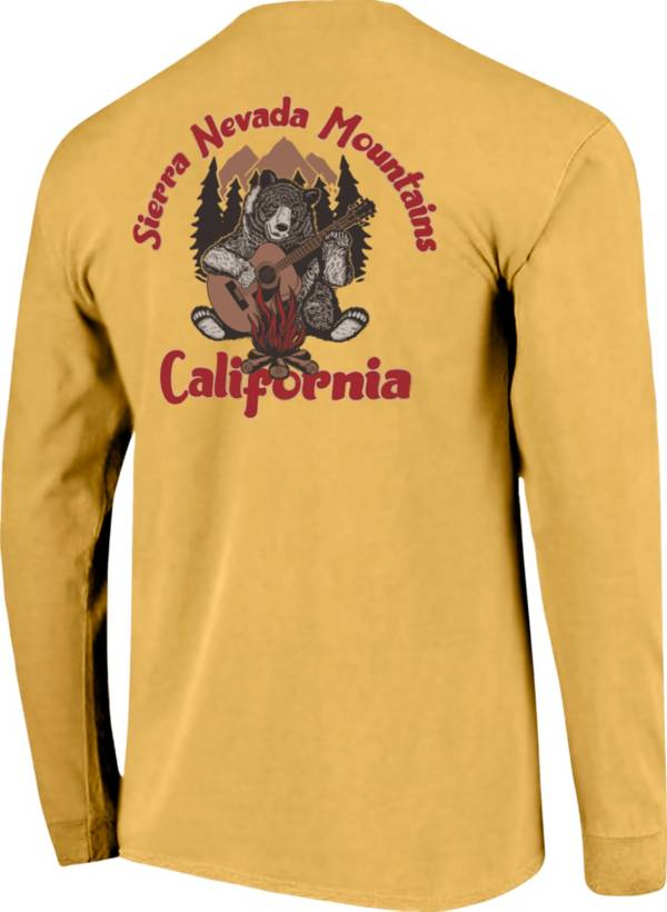Image One Men's California Sierra Nevada Mountains Bear Graphic T-Shirt product image