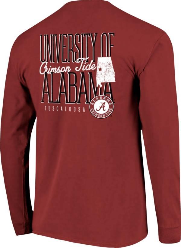 Image One Men's Alabama Crimson Tide Crimson Tall Type State Long Sleeve T-Shirt product image