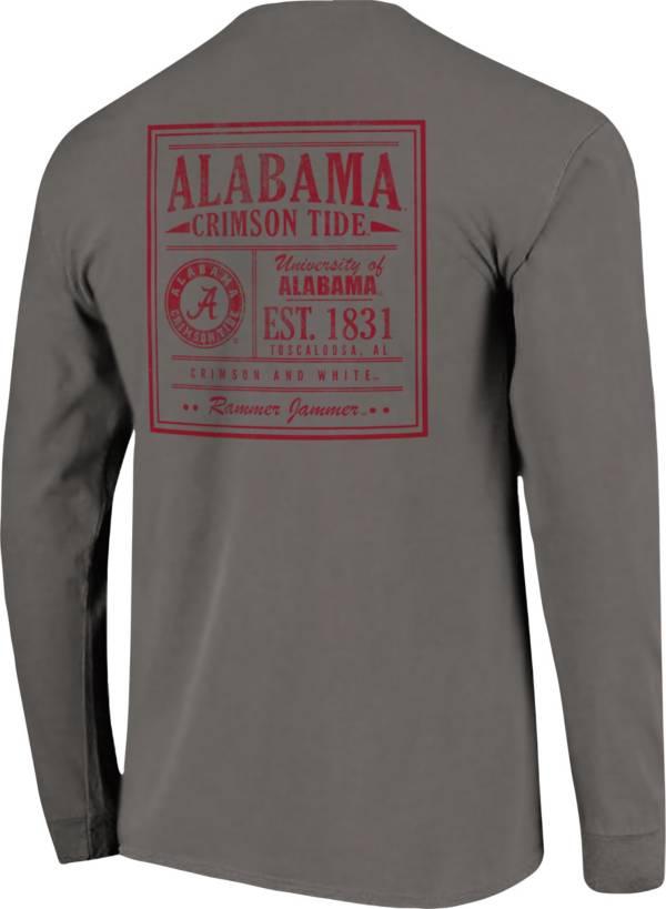 Image One Men's Alabama Crimson Tide Grey Vintage Poster Long Sleeve T-Shirt product image