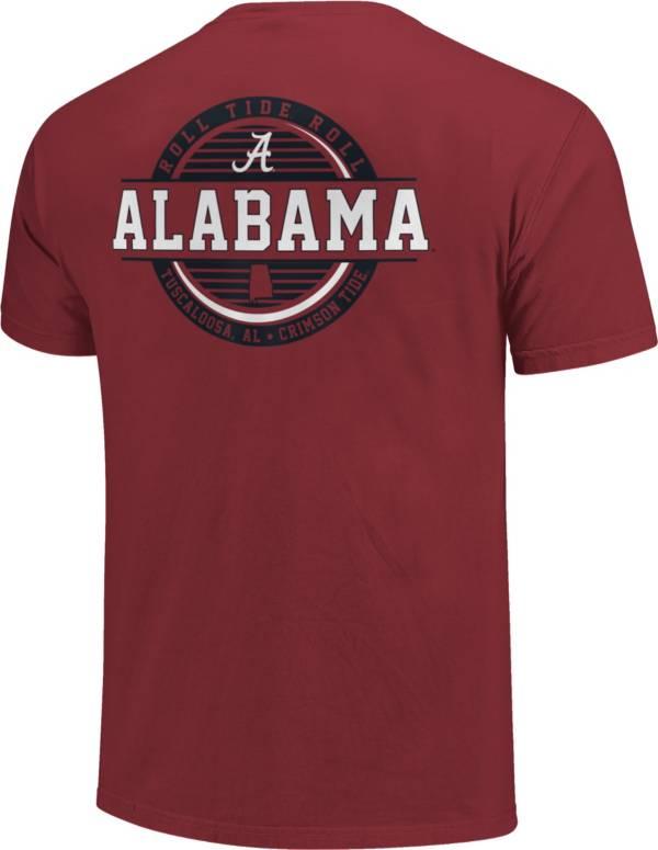 Image One Alabama Crimson Tide Crimson Striped Stamp T-Shirt product image