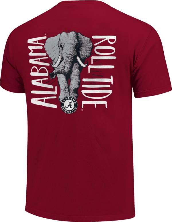 Image One Alabama Crimson Tide Crimson Type Lined Mascot T-Shirt product image