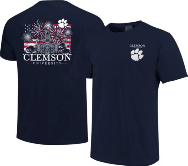 Image One Men's Clemson Tigers Navy Americana Fireworks T-Shirt product image