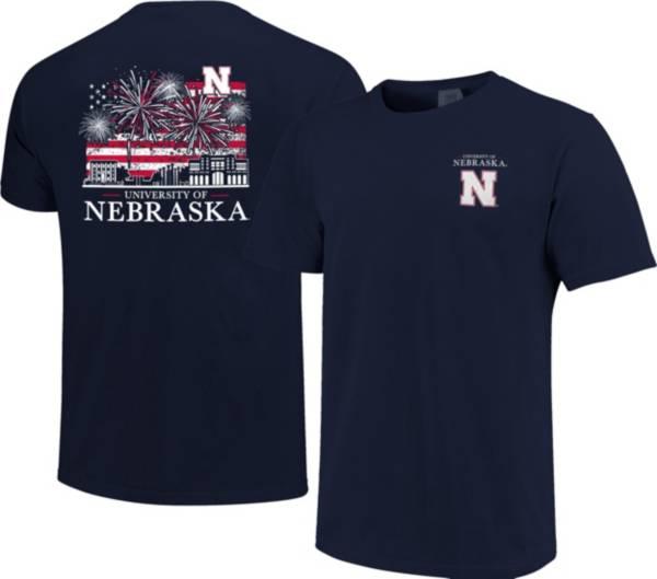 Image One Men's Nebraska Cornhuskers Navy Americana Fireworks T-Shirt product image