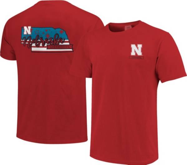 Image One Men's Nebraska Cornhuskers Scarlet Americana State T-Shirt product image