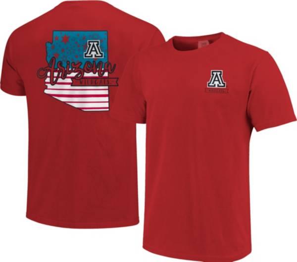 Image One Men's Arizona Wildcats Cardinal Americana State T-Shirt product image