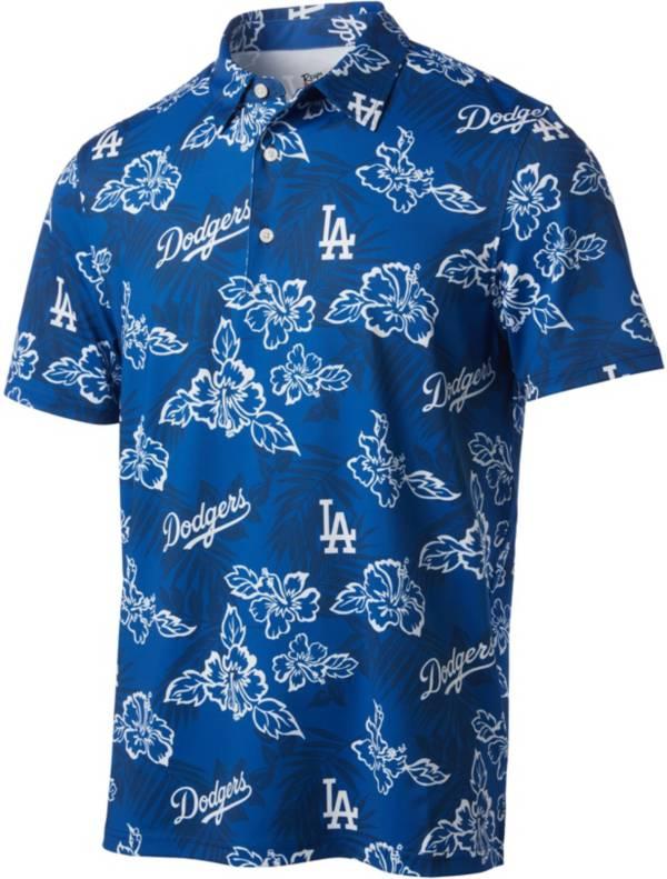Reyn Spooner Men's Los Angeles Dodgers Blue Aloha Performance Polo product image