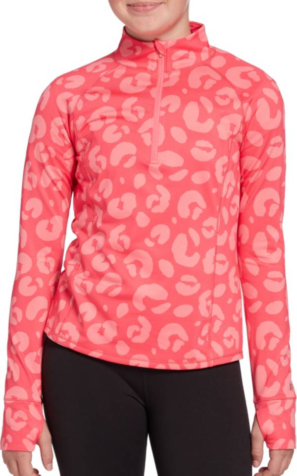 DSG Girls' Cold Weather Compression Print 1/4 Zip Pullover product image
