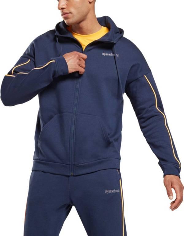 Reebok Men's Training Essentials Piping Zip-Up Hoodie product image