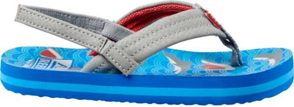 REEF Juniors' Little AHI Blue Shark Flip Flops product image