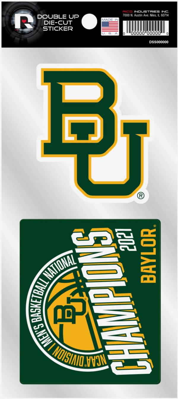 Rico Baylor Bears 2021 Men's Basketball National Champions 2-pack Decal product image