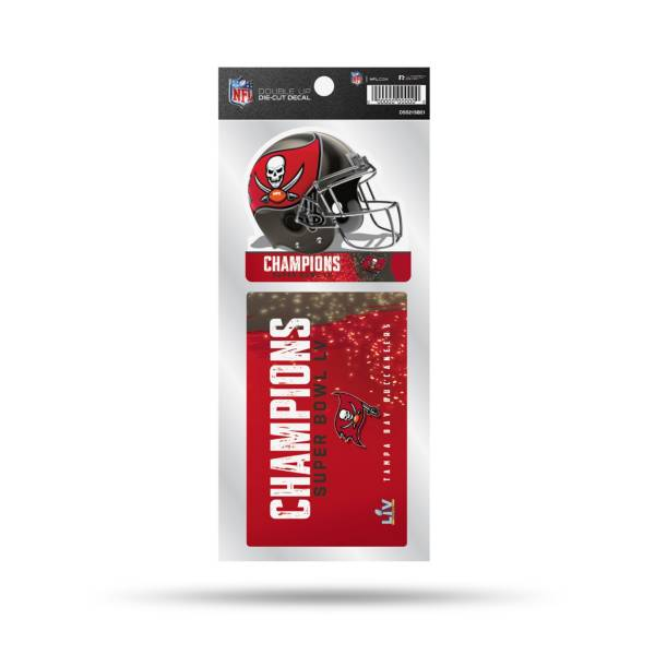 Rico Super Bowl LV Champions Tampa Bay Buccaneers 2pk Decal Sheet product image