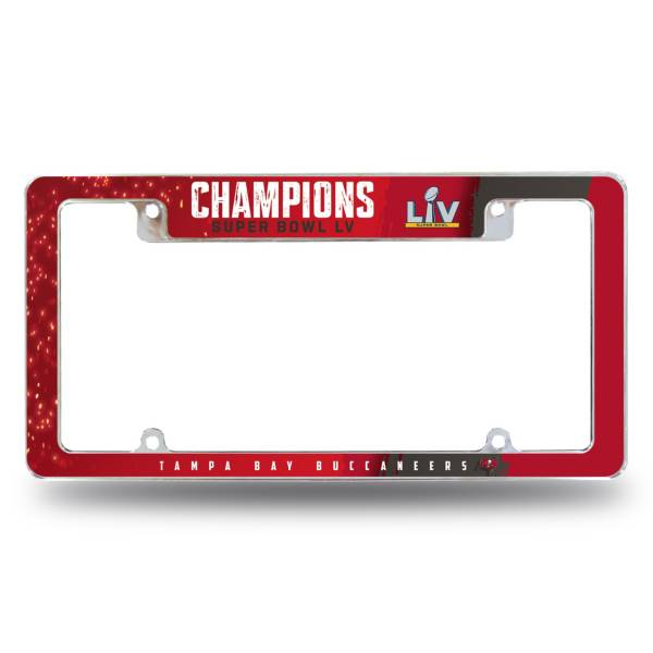 Rico Super Bowl LV Champions Tampa Bay Buccaneers Chrome License Plate Frame product image